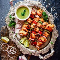 Paneer Tikka Recipe In Oven - Spoon Fork And Food